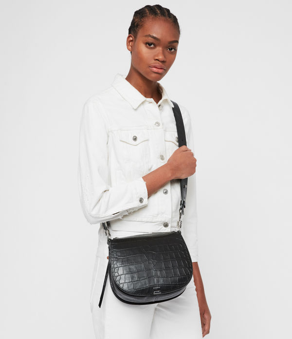 Polly Round Leather Crossbody Bag