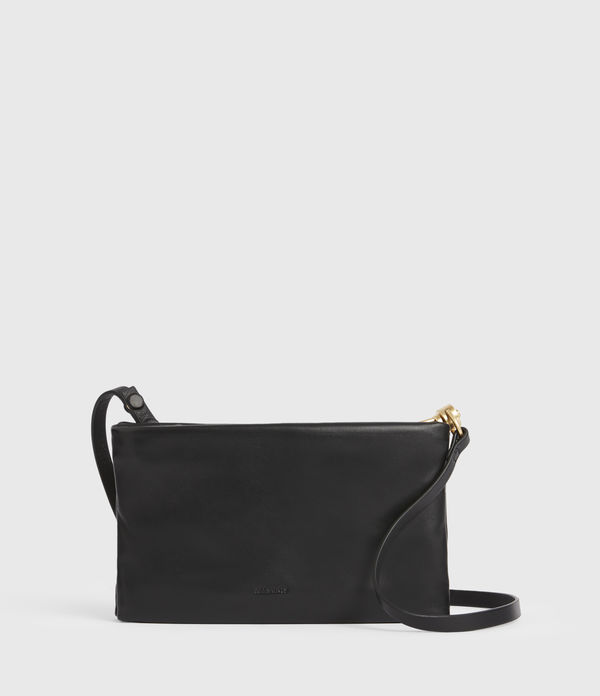 Mila Leather Double Pouch Bag
