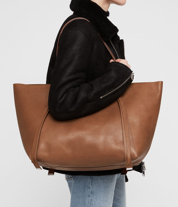 Vincent Leather East West Tote Bag