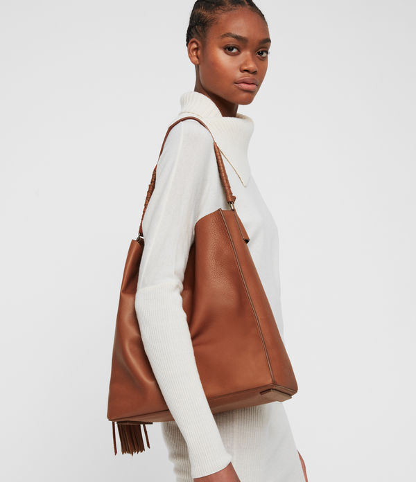 Shirley North South Leather Tote Bag