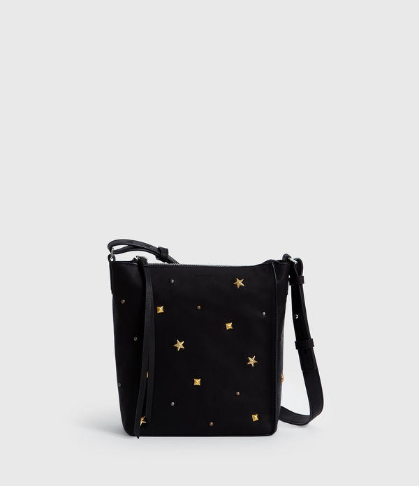 Mazzy Zip Leather Crossbody Bag