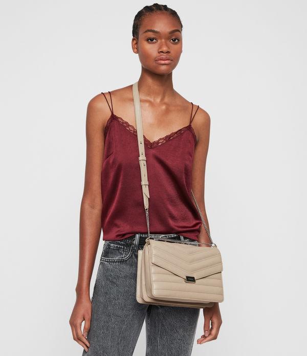 Justine Flap Leather Crossbody Bag