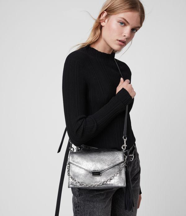 Miki Lea Leather Crossbody Bag