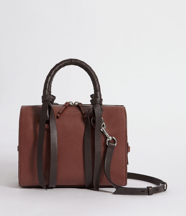 voltaire small leather bowling bag