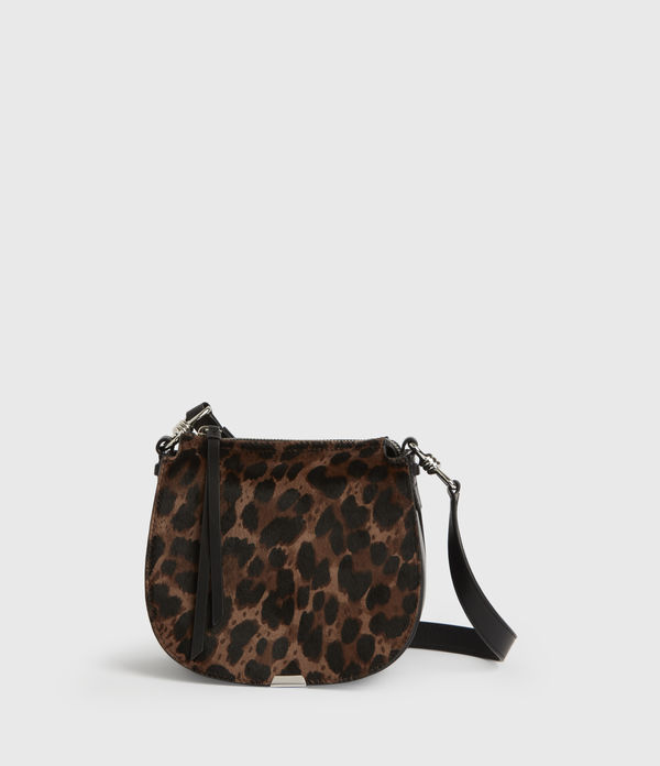 Kim Small Round Leather Crossbody Bag