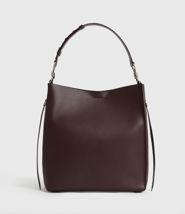 Nina North South Leather Tote Bag