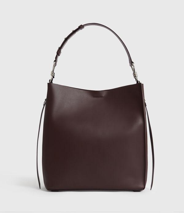 Nina North South Leather Tote Bag