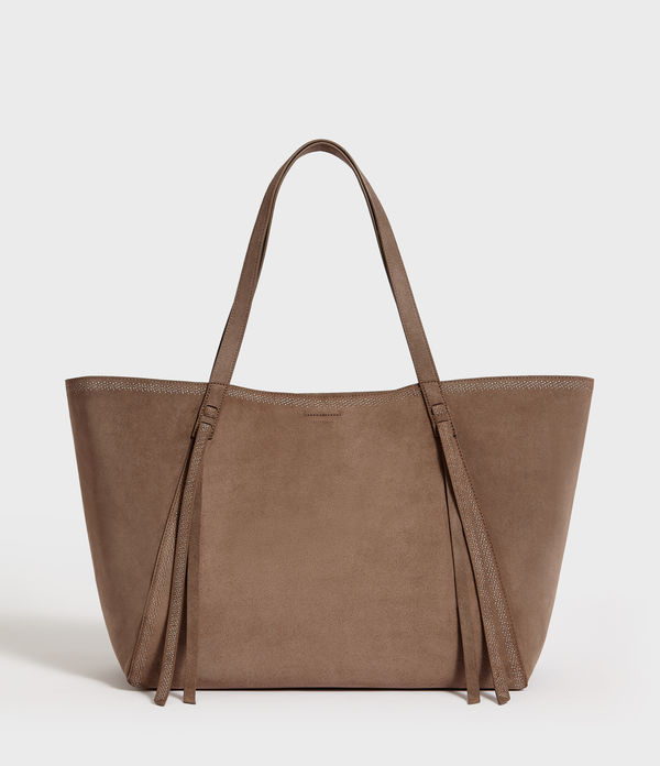 Ziggy East West Suede Tote Bag