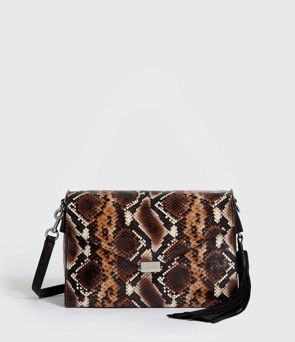 miki sliver leather shoulder bag