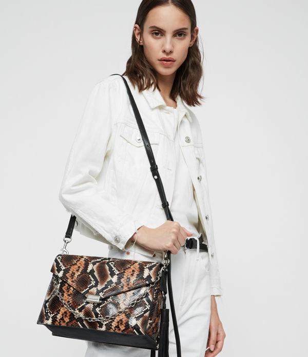 Miki Sliver Leather Shoulder Bag