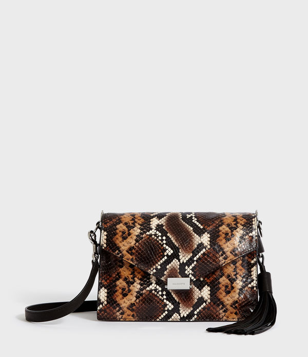 Miki Sliver Leather Crossbody Bag