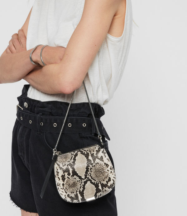 Sliver Suede Mini Round Crossbody Bag