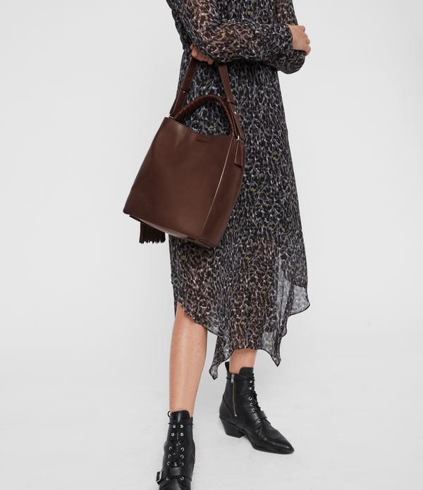 Shirley Small North South Leather Tote Bag