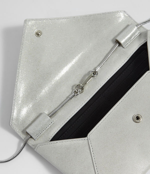 Glitz Leather Clutch Bag