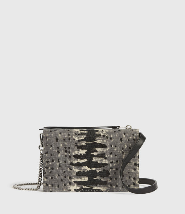 claremount chain leather crossbody bag