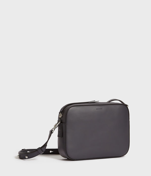Captain Leather Square Crossbody Bag
