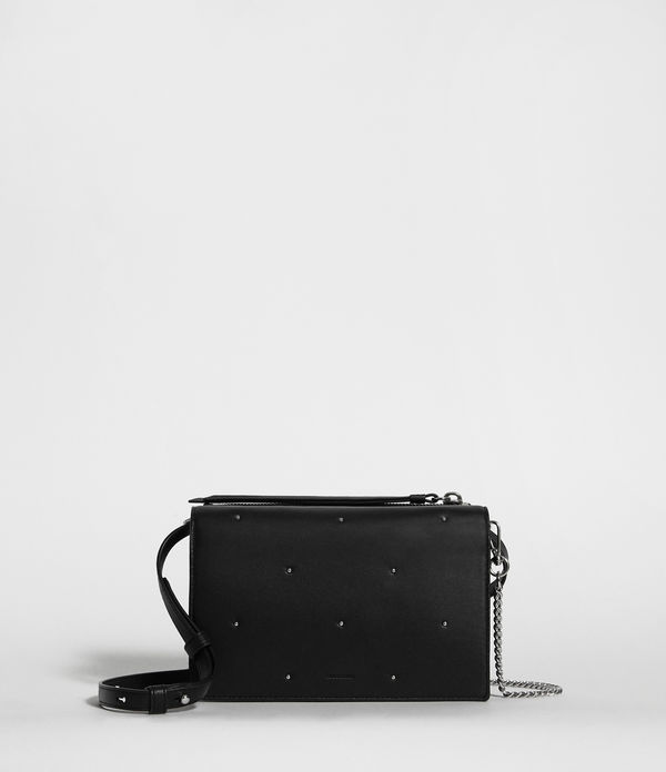 kathi leather chain wallet crossbody bag