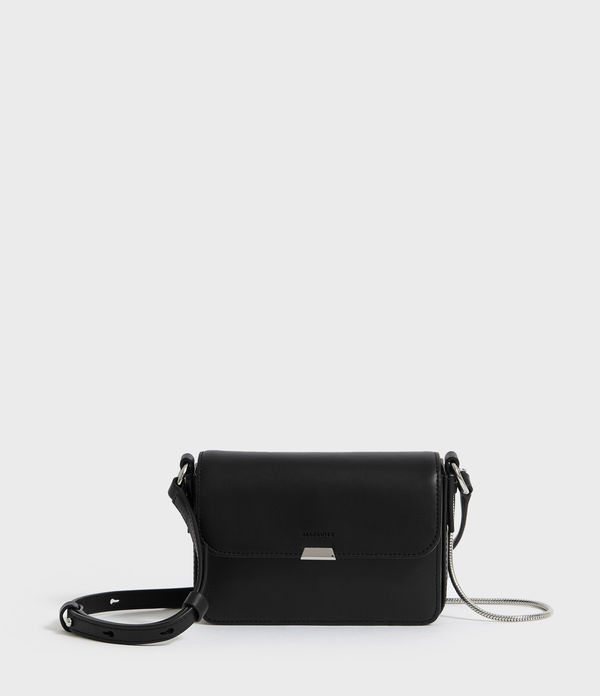 Captain Leather Mini Flap Crossbody Bag