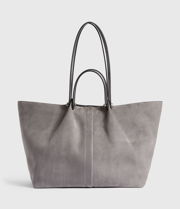 allington suede east west tote bag