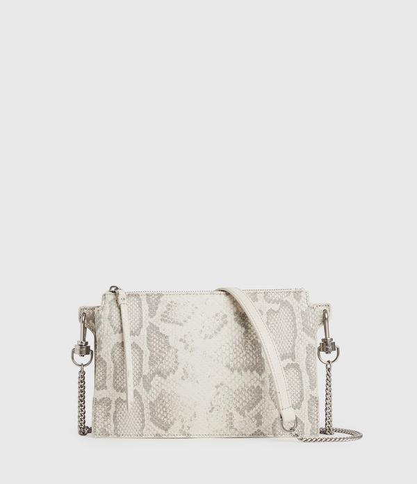 Fletcher Snake Leather Crossbody Bag