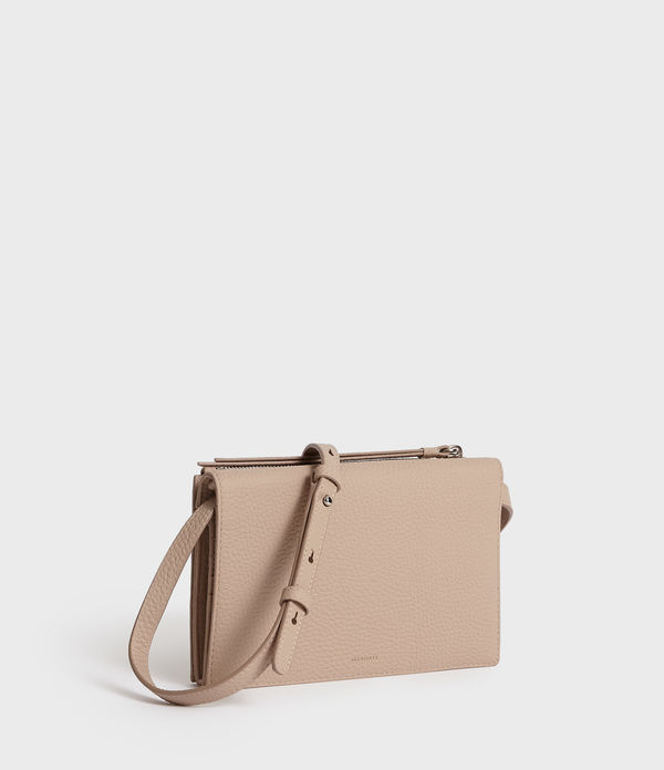 Fetch Leather Chain Wallet Crossbody Bag