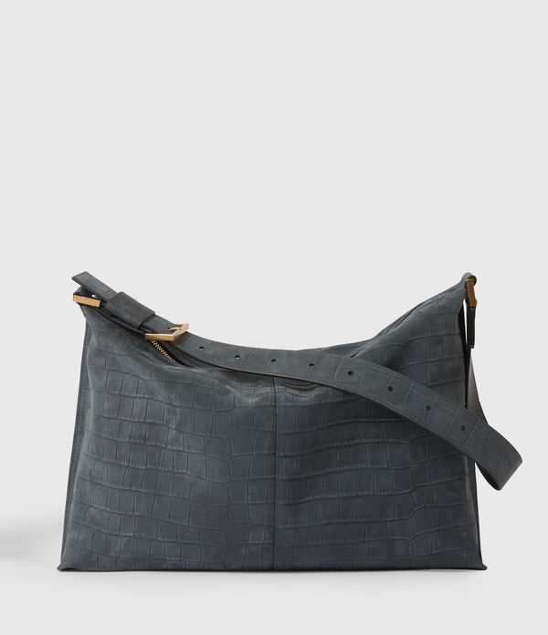 edbury suede shoulder bag