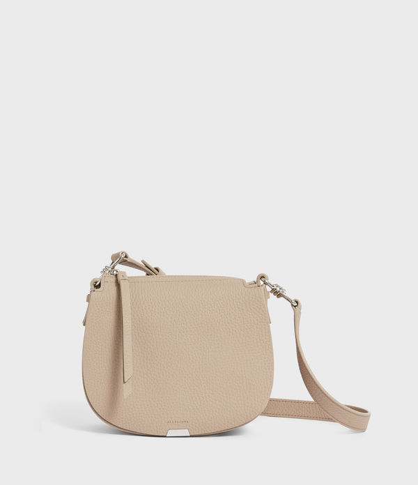 Captain Lea Leather Small Round Crossbody Bag