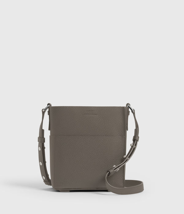 Adelina Small Leather North South Tote Bag