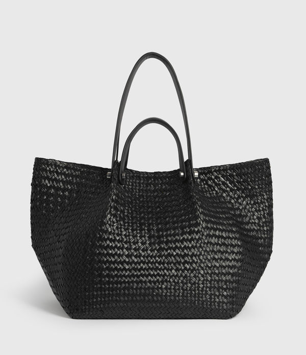 Allington East West Straw Tote Bag