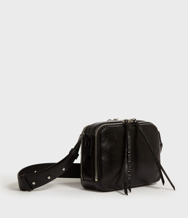 Vincent Shiny Leather Crossbody Bag