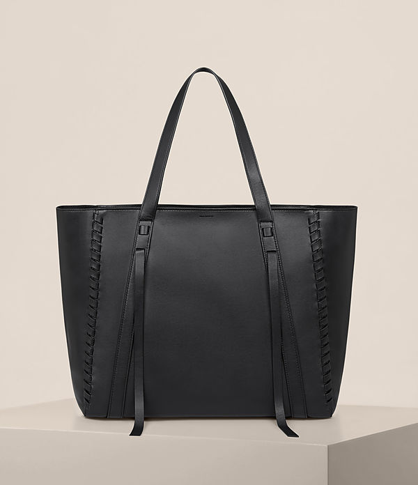 ray leather east west tote