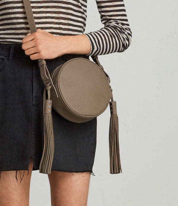 Kepi Leather Round Crossbody Bag