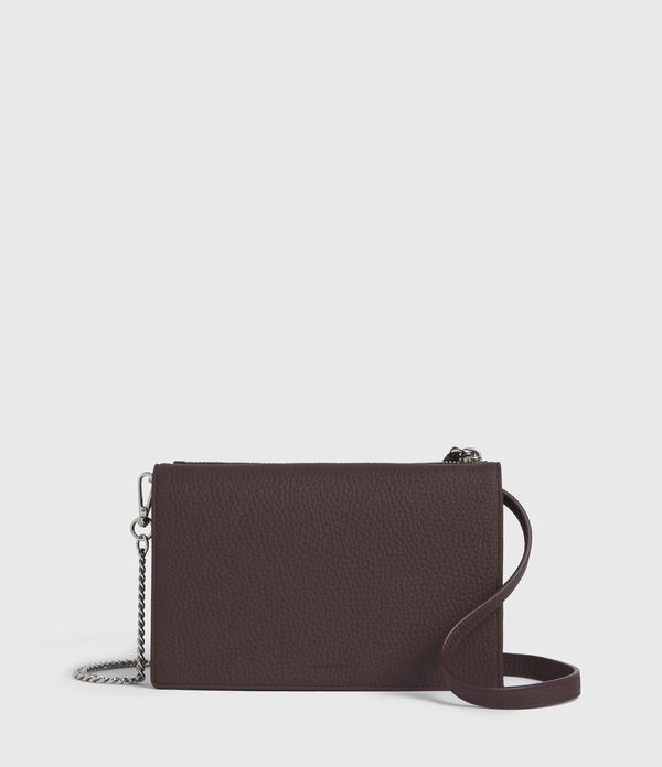 Fetch Chain Leather Wallet Crossbody Bag