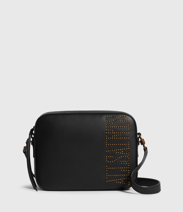 Nina Stud Square Leather Crossbody Bag