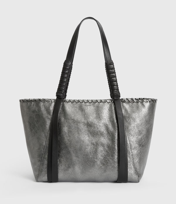 Miki Lea Leather East West Tote Bag