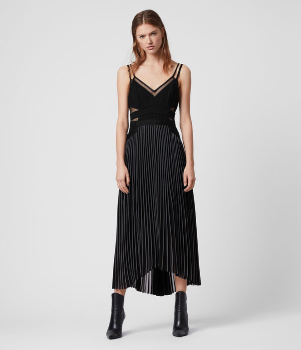 cora pleat dress