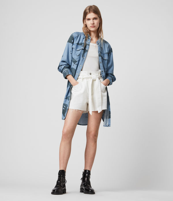 Kat Camo Denim Dress