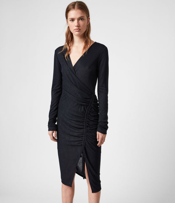 Rina Glitz Wrap Dress