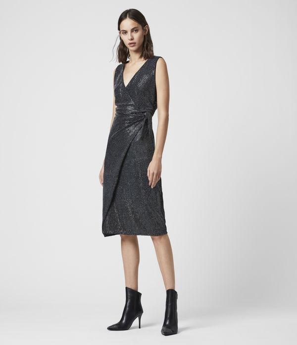 Allegra Wrap Shimmer Dress