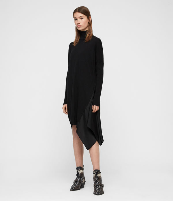 alda roll neck dress