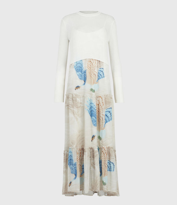 AllSaints Tilly Swoop 2-In-1 Dress