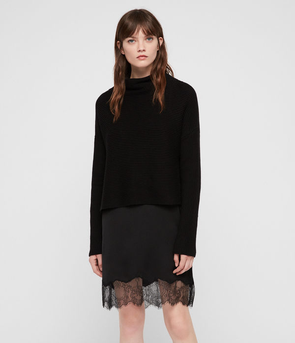 Eloise Funnel Neck Dress
