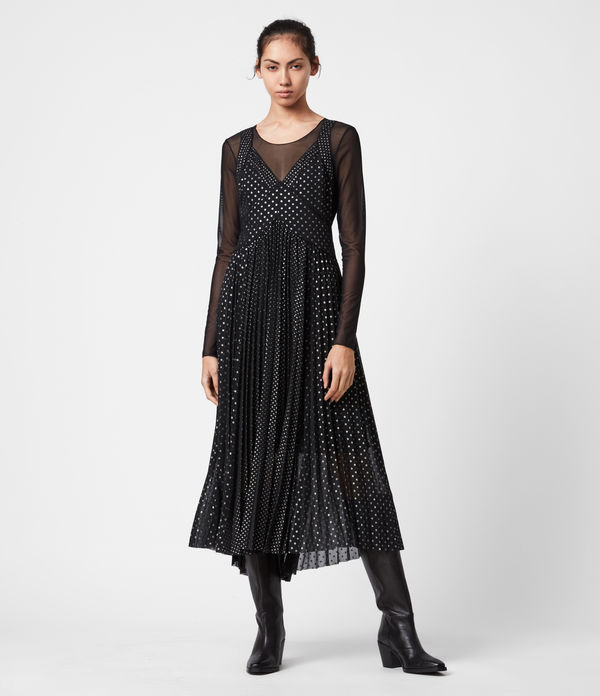 Tenaya Dot 2-In-1 Dress