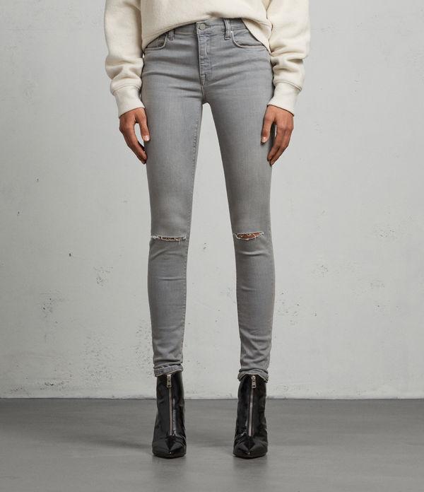 Grace Slashed Skinny Jeans
