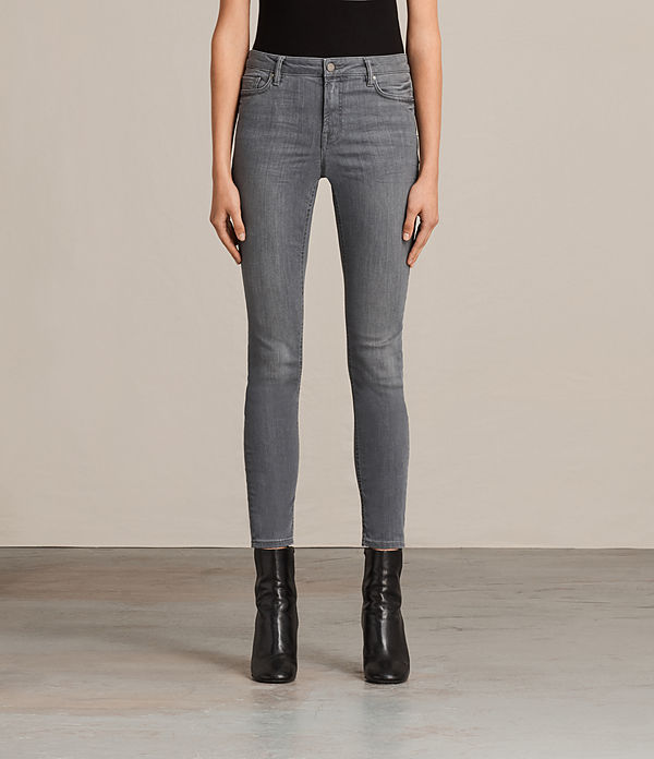 Mast Skinny Low-Rise Jeans, Washed Grey