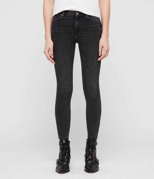 Grace Cropped Zip Skinny Jeans