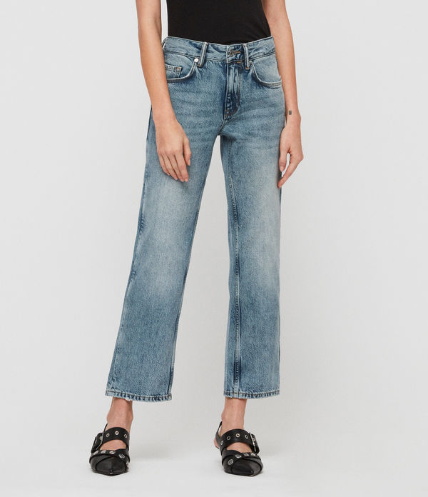 alana boyfriend low-rise jeans, light indigo blue