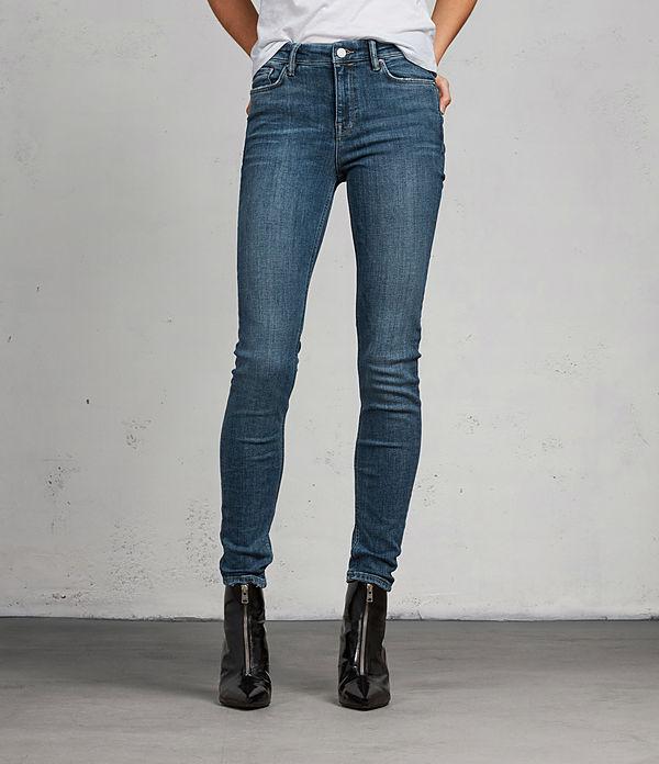 Grace Vintage Skinny Mid-Rise Jeans, Dark Indigo Blue