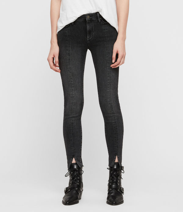 grace split ankle skinny jeans