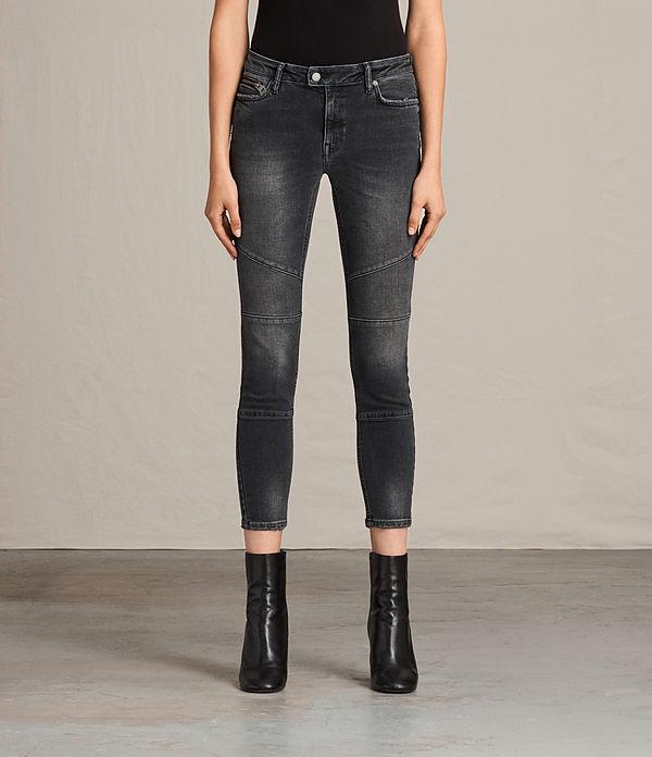 Biker Cropped Jeans